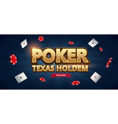 Casino chips cards and place for text vector