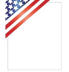Patriotic american frame vector