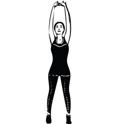 abstract fitness woman trained female body vector image vector image
