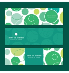 Abstract green circles horizontal banners vector