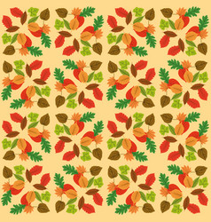 autumn leaf design over white yellow background vector image vector image