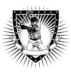 Baseball shield vector