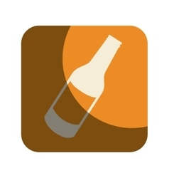Beer bottle isolated icon vector