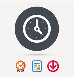 clock icon mechanical watch sign vector image