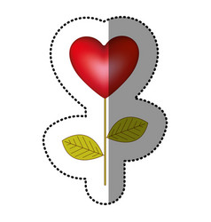 color heart balloon plant icon vector image vector image