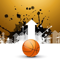 creative background of basketball with arrows vector image