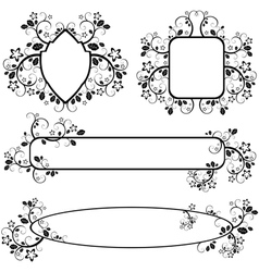 frames with floral pattern vector image vector image