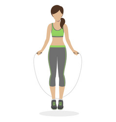 girl with skipping rope vector image vector image