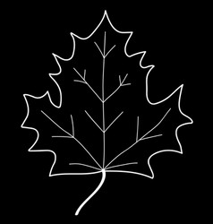 maple leaf mono sign 208 vector image vector image