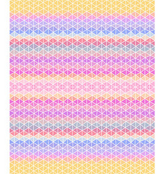 Multicolored triangular background Seamless vector image vector image