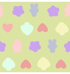 Seamless pattern pastel vector image