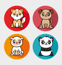Set of cute animal vector