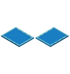 swimming pool in two angles vector image