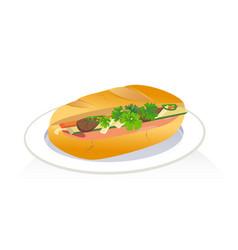 Vietnam sandwich vector