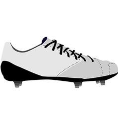 White football shoe vector