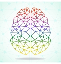 Abstract geometric brain network connections vector