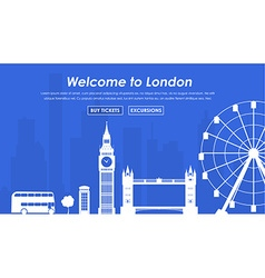 Welcome to london banner vector