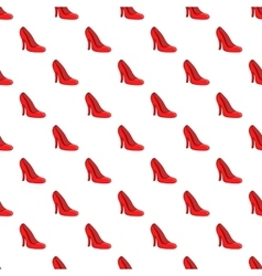 Red women shoes pattern cartoon style vector