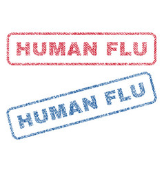Human flu textile stamps vector