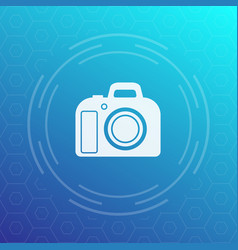 Dslr camera icon vector