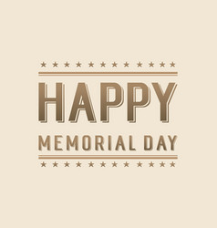 Background of memorial day style vector