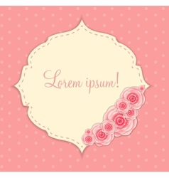 Cute frame with rose flowers vector