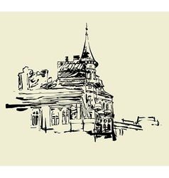 Kiev historical building vector image