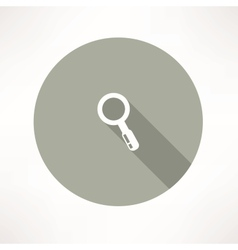 Magnifier icon vector image