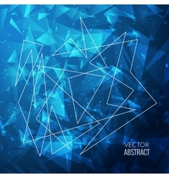 3D Abstract Business Background with Triangles vector image