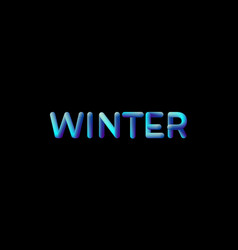 3d gradient winter season sign vector image vector image