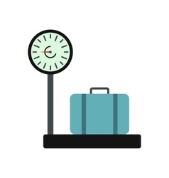 Weighing luggage icon vector