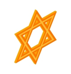 Star of david icon isometric 3d style vector