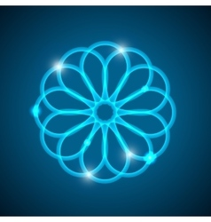 Abstract background with light geometrical mandala vector