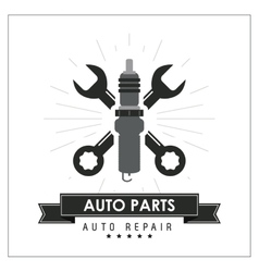 Wrench icon auto part design graphic vector