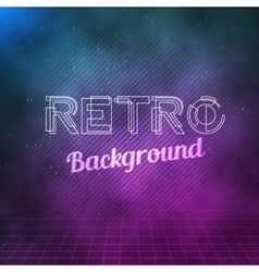 Retro Neon Background 1980 Neon Poster Retro vector image