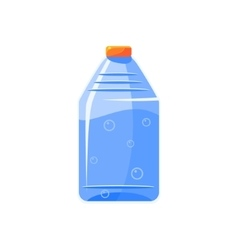 Plastic bottle with clear water simplified icon vector