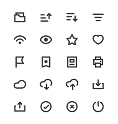 Basic ui outline icon set vol 2 vector