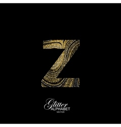 Curly textured letter z vector