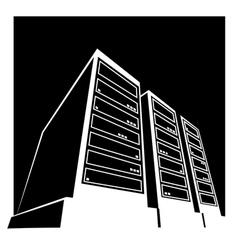 Data center black vector