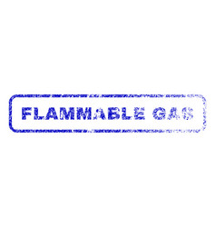 Flammable gas rubber stamp vector