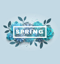 Flower composition with the text of the spring vector