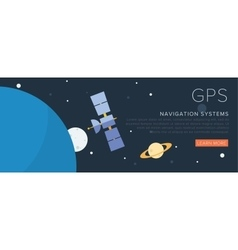 GPS Satellite on the space vector image vector image