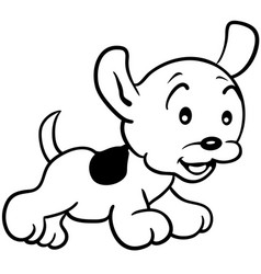 happy puppy with a leash eps 10 vector image vector image