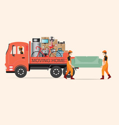 house moving services transportation and logistic vector image