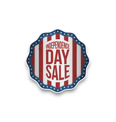 independence day sale banner in realistic style vector image vector image