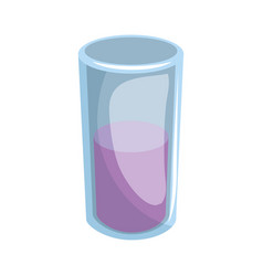 juice glass isolated vector image vector image
