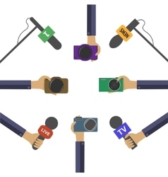 Live news concept vector