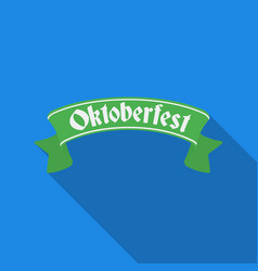 Oktoberfest banner icon in flat style isolated on vector