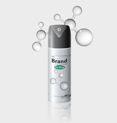 Packaging antiperspirant deodorant vector