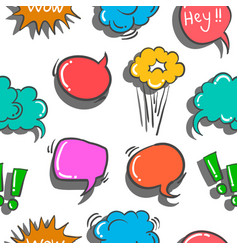 Pattern of text balloon art vector